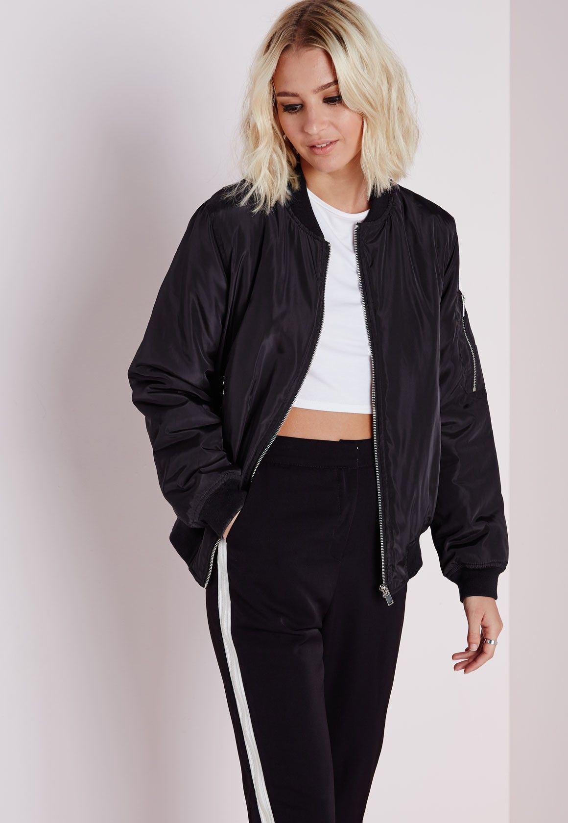 Jump on the bomber jacket trend in style with this fierce piece ...