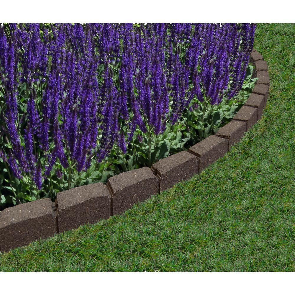 Vigoro Roman Stone 4 ft. Rubber Garden Edging Earth