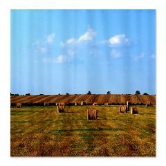 Unique Country Themed Shower Curtains A Color Photo Of Hay Field With Rows