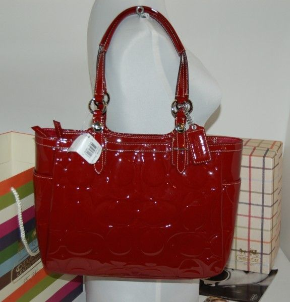 Red patent leather Coach purse... | No more purse probation ...