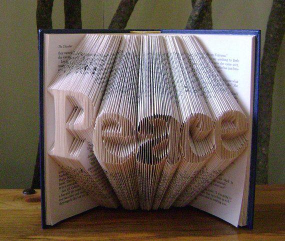 Folded Book Art Peace Recycled Book Art Book Sculpture