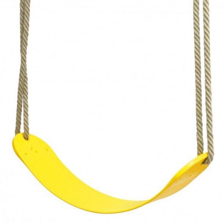 Child Outdoor Swing Seat Plastic Yellow Hanging Chair Kids Garden