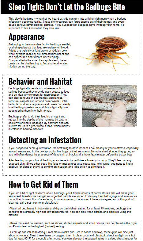 Bedbug Problems Check Out Our Infographic For Getting Rid Of Them Bed Bugs Infographic Bug Free
