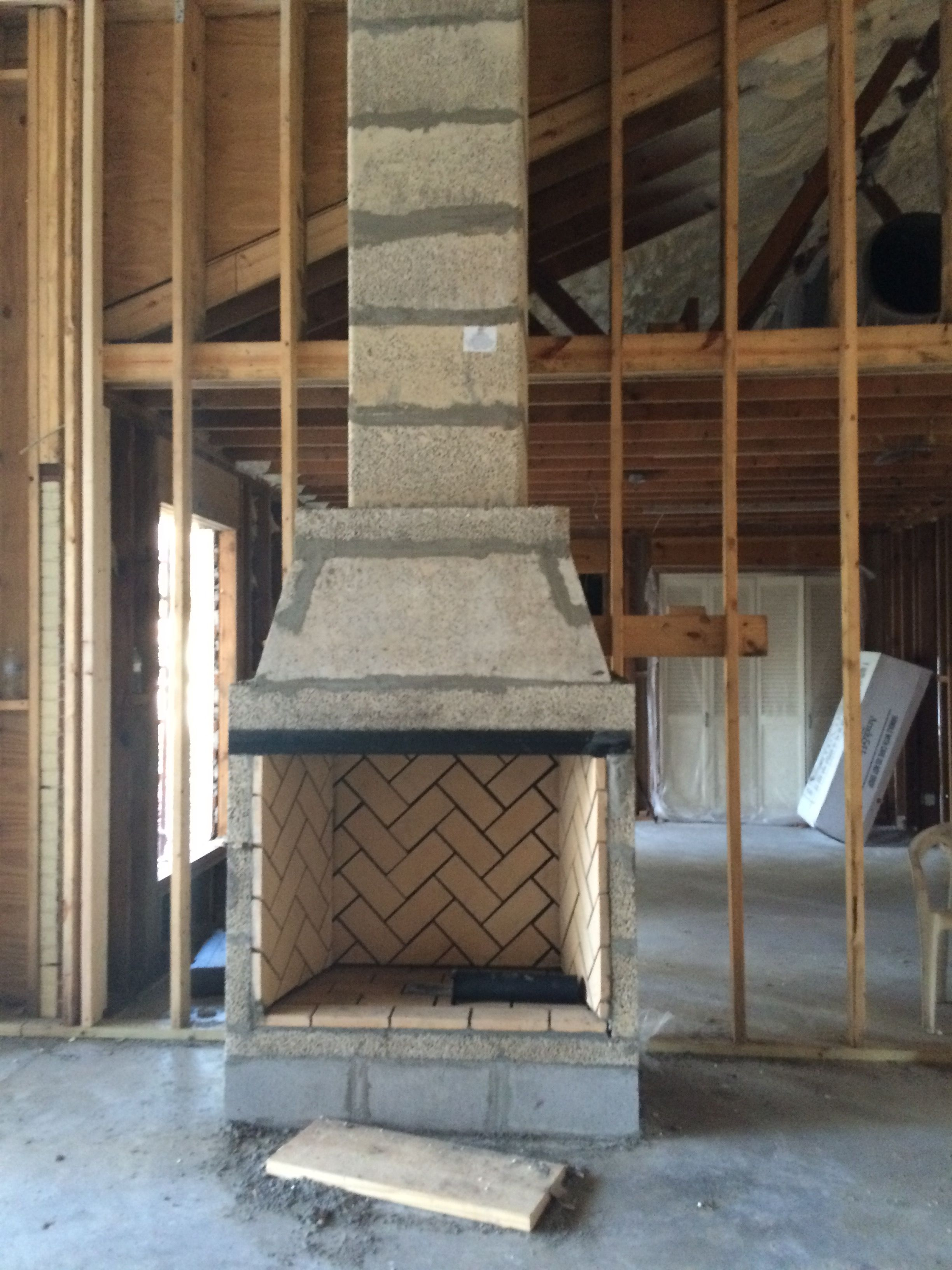 """""""Ranch Dressing"""" Isokern fireplace installation 
