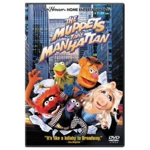The Muppets Take Manhattan DVD. $7.49 on Amazon.