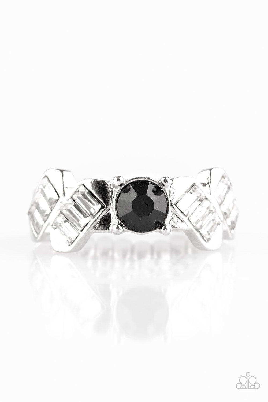 Luxury Loot Black Black Rings Paparazzi Accessories Paparazzi Jewelry