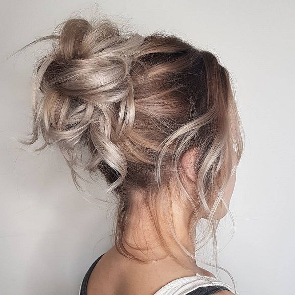 Messy Updo Hairstyle Inspiration Brudefrisurer Pjusket Har Frisure