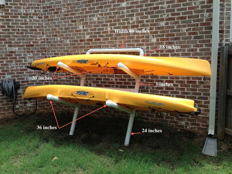 Make Your Own Kayak Rack Products I Love Pinterest