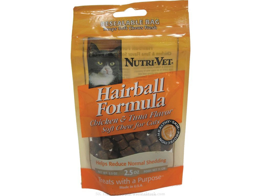 Hairball Soft Chews For Cats 2.5oz