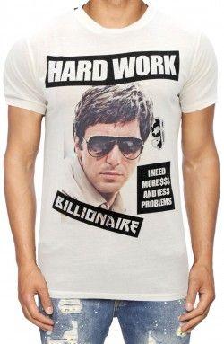 b0be2878ec0c My Brand - Hardwork Off-White T-Shirt (MMB-TS012-R015 ...