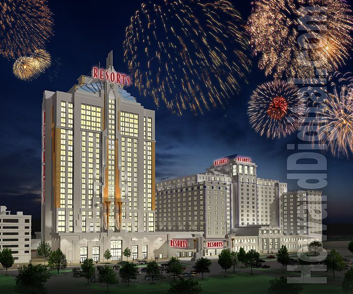 Atlantic City Casinos Rendering Resorts Hotel And Casino Atlantic City New Jersey Nj With Images Atlantic City Casino Atlantic City Hotels And Resorts