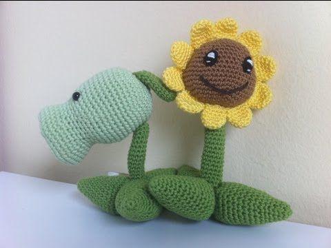 Amigurumi Crochet Personajes : Girasol y lanzaguisantes amigurumi personajes del juego de