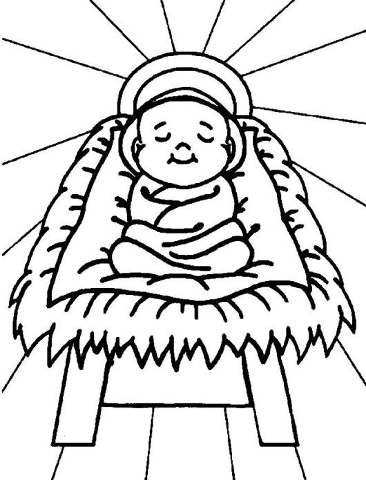 baby jesus christmas coloring pages for kids