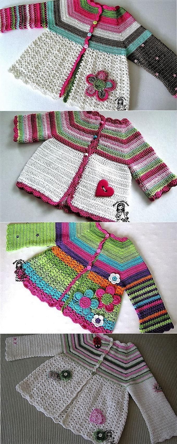Ideal Patterns For Crochet Cardigans 2 Little Princess Pinterest