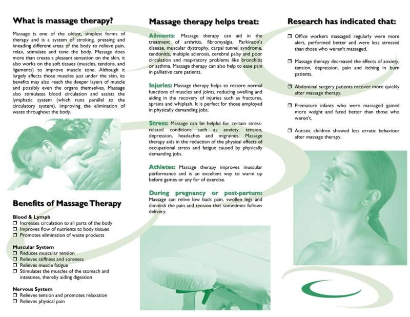 Free Downloadable Massage Therapy Brochures | Design By Pizaz