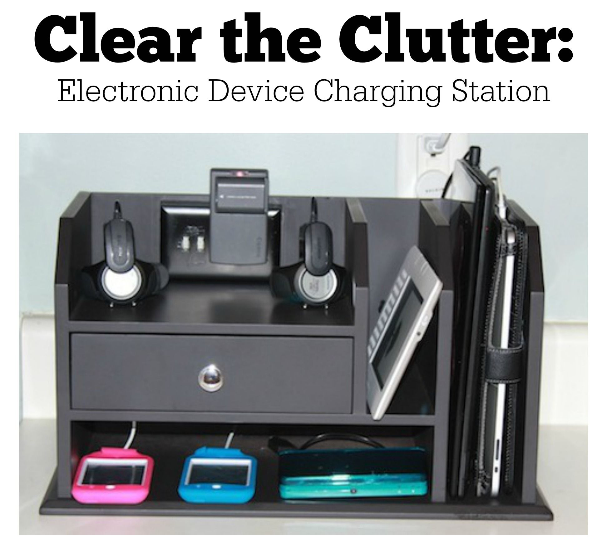 A few simple hacks creates a charging station that solves Diy cell phone charging station
