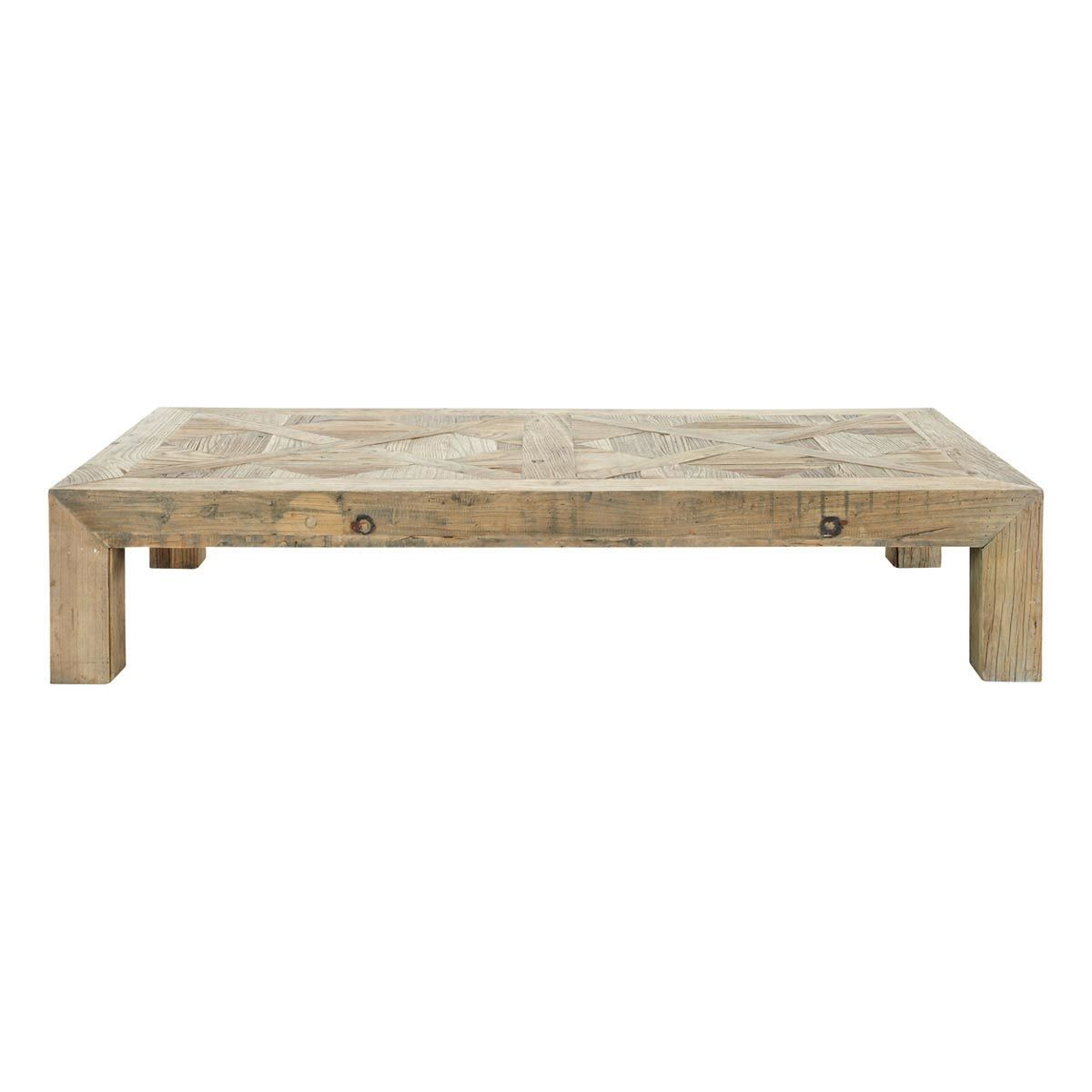 Love The Low Level And Rough Wood Coffee Table Maisonsdumonde Co Uk