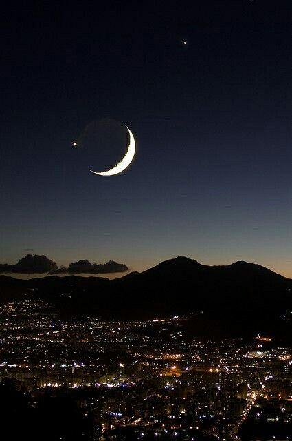 هلال رمضان Landscape Photography Nature Moon Photography Beautiful Moon
