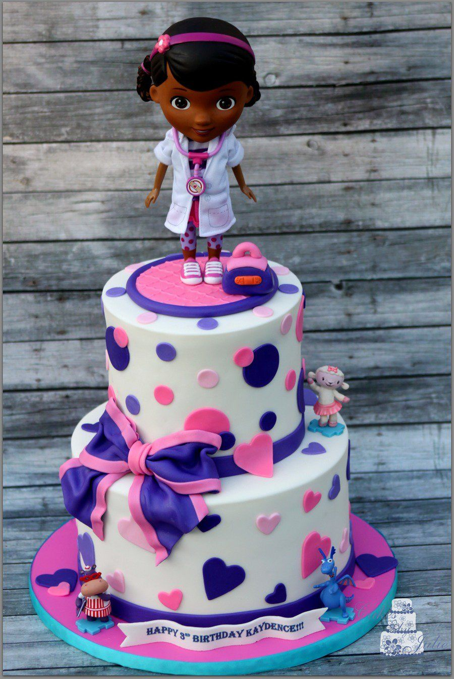 Phenomenal Doc Mcstuffins Birthday Cake With Images Doc Mcstuffins Birthday Cards Printable Nowaargucafe Filternl