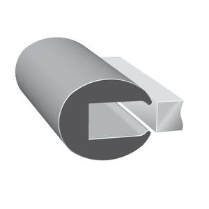 500 X 3 8 Leg X 1 32 Gap Neoprene Rubber Edge Trim Fits 22 Gauge Sheet Metal Neoprene Rubber Gap Rubber