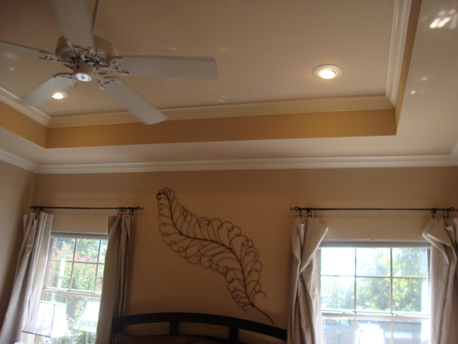 bedroom tray ceiling molding/painting ideas | New home ...