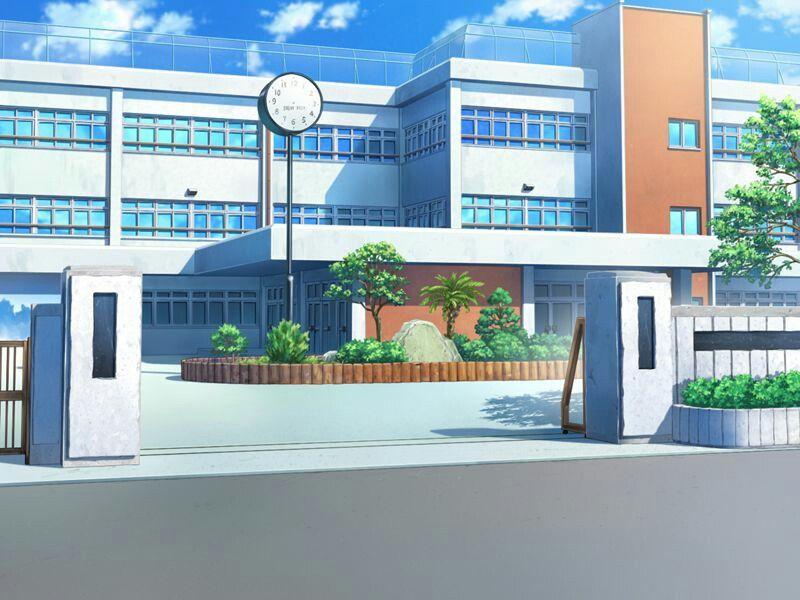 Anime School Paisagem 3 Vs Real Life Cenario Anime Fundo De