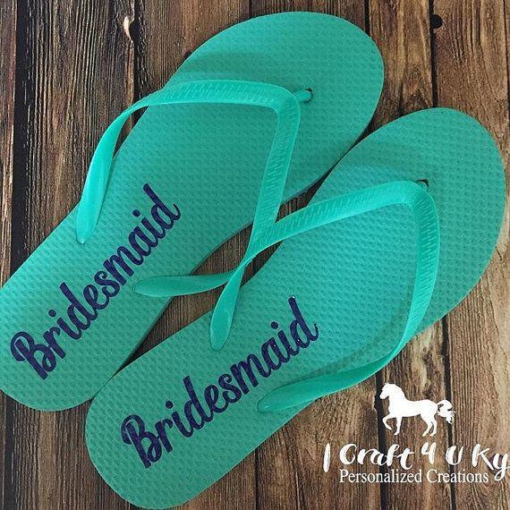 030328d28faa32 Bridesmaids Flip Flops Decals