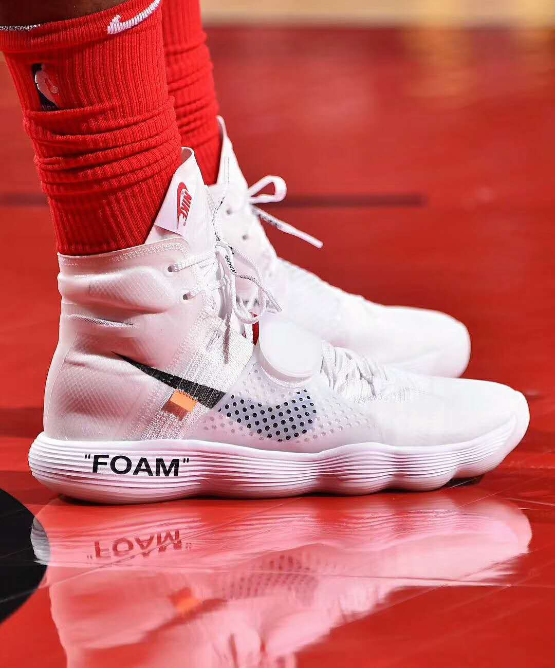 7301e1720ec1 Virgil Abloh Off-White x Nike React Hyperdunk White Flyknit the ten ...
