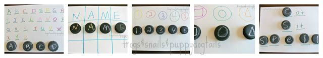 Frogs and Snails and Puppy Dog Tail (FSPDT): 6 Fun Ways To Learn and Play With chalk Painted Bottle Caps