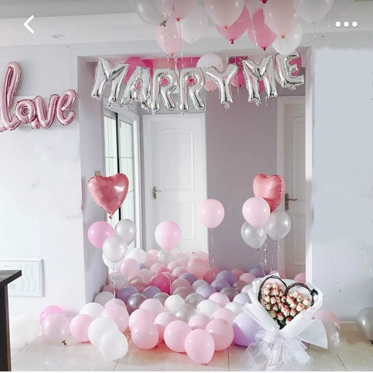 Marriage Proposal Decorations Balloons