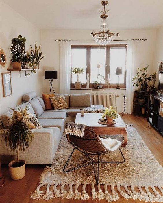 57 idées de design de salon bohème inspirantes pour votre maison