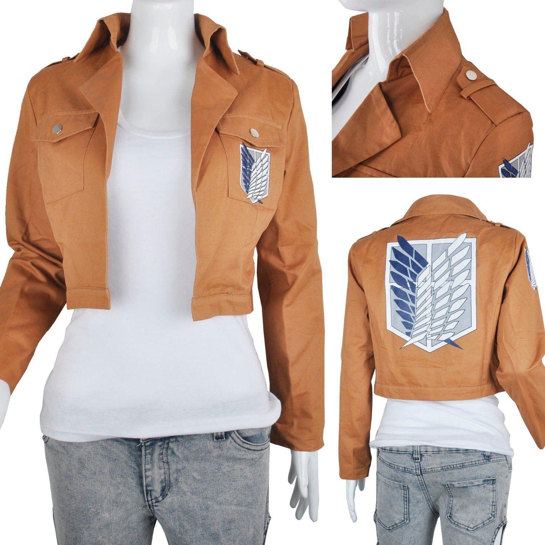 Attack on Titan Scouting Legion Cosplay Jacket, Khaki Color