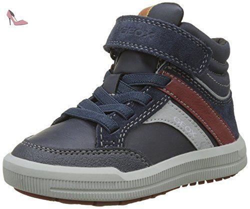 Geox J CREAMY A, Hi-Top Slippers fille - Bleu - Blau (NAVY C4002), 33 EU