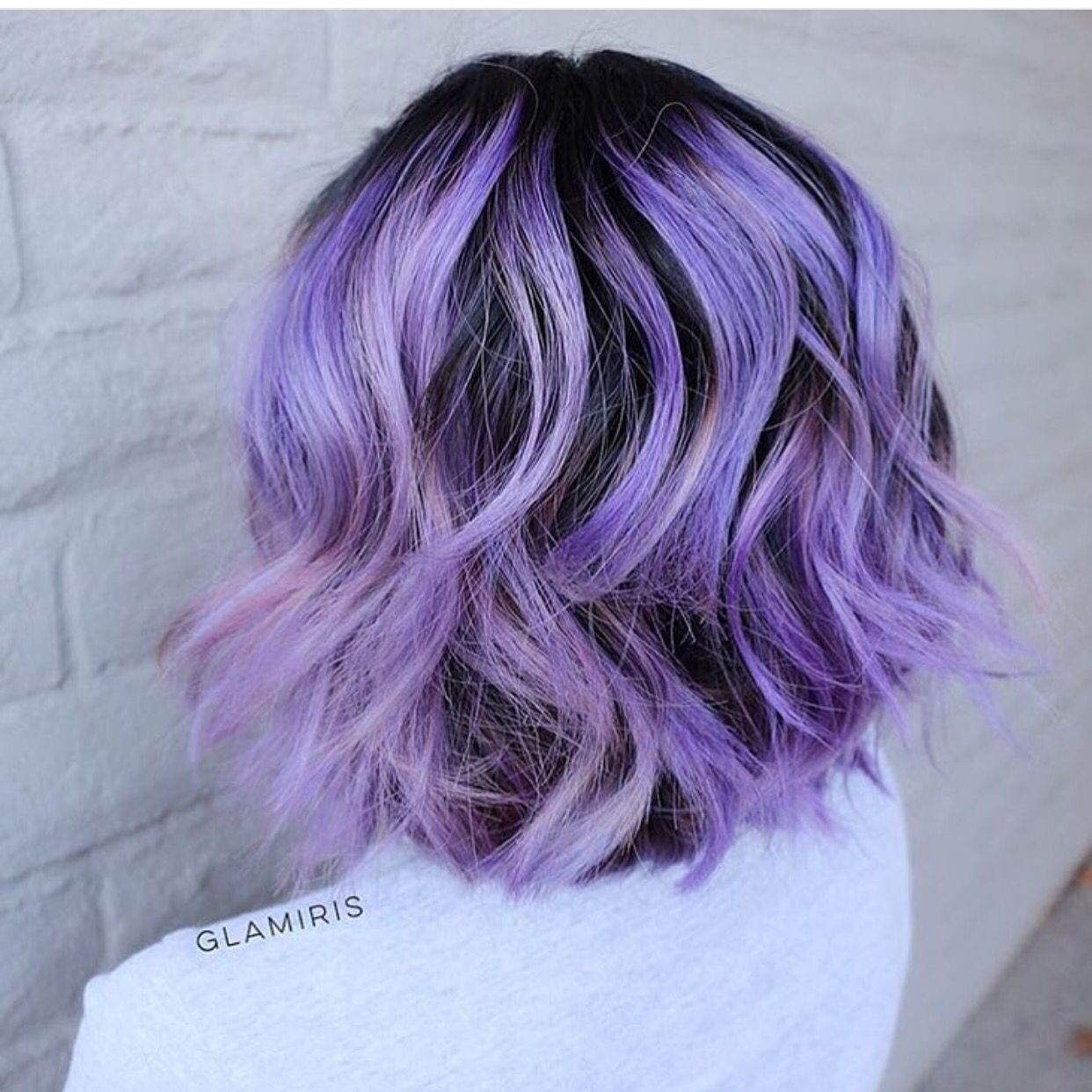 Curly bob haircut dressed in lavender curls by iris smith