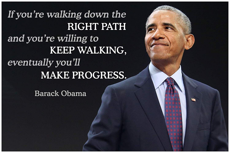 Amazon Com Barack Obama Quote Classroom Poster Growth Mindset