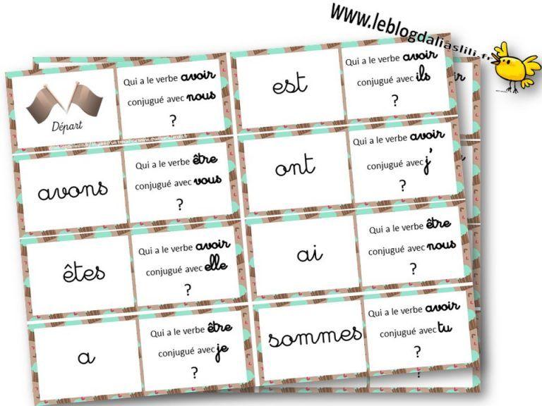 des jeux en conjugaison | Jeux ce1, Verbe etre et avoir ...