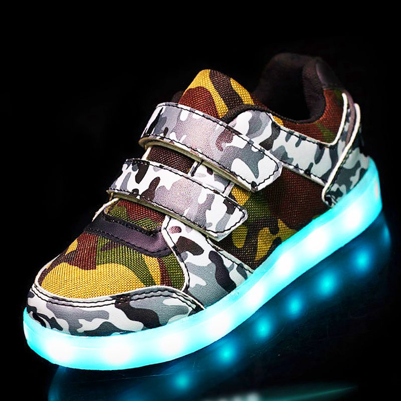 25 37 Size Usb Basket Led Child Shoes With Light Up Kids Luminous Sneakers Children S Glowing Shoe Enfant For Boys Affiliate