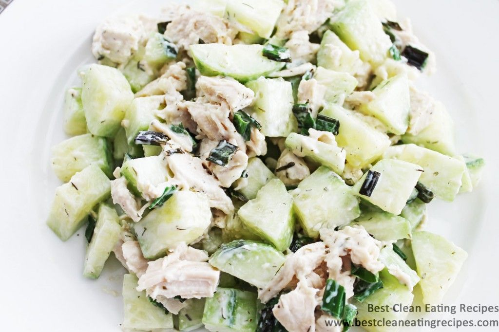 Clean Eating Recipe – Chicken Cucumber Dill Salad | Diet Meals and Easy Healthy Recipes that Help Me Lose Weight