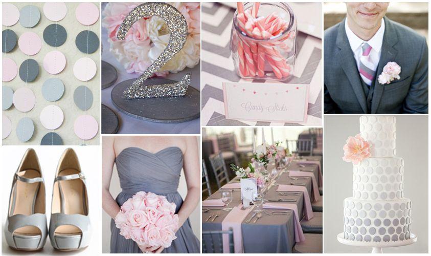 decoración de boda en gris, rosa y blanco. | boda | wedding, table
