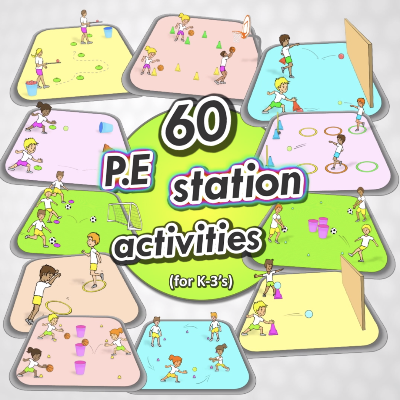 60 Of The Best Pe Station Activities For Your Kindergarten To Grade 3 S Great For Every