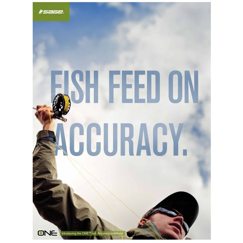 Sage Fly Fishing Give a Rip Poster 24 x 32 Fly fishing
