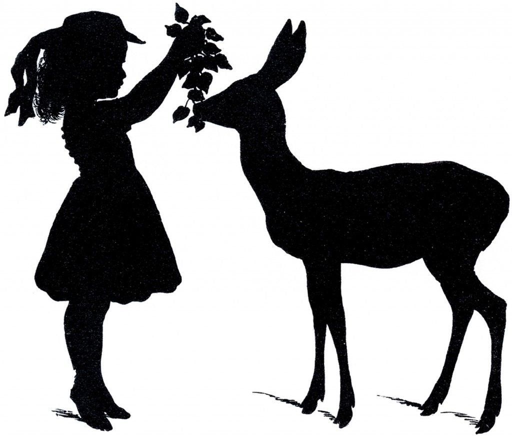 Free Deer Silhouette Vectors from The Graphics Fairy