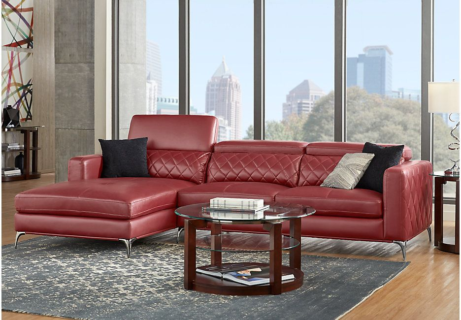 Super Sofia Vergara Sorrento Red 2 Pc Sectional Rooms To Go Spiritservingveterans Wood Chair Design Ideas Spiritservingveteransorg