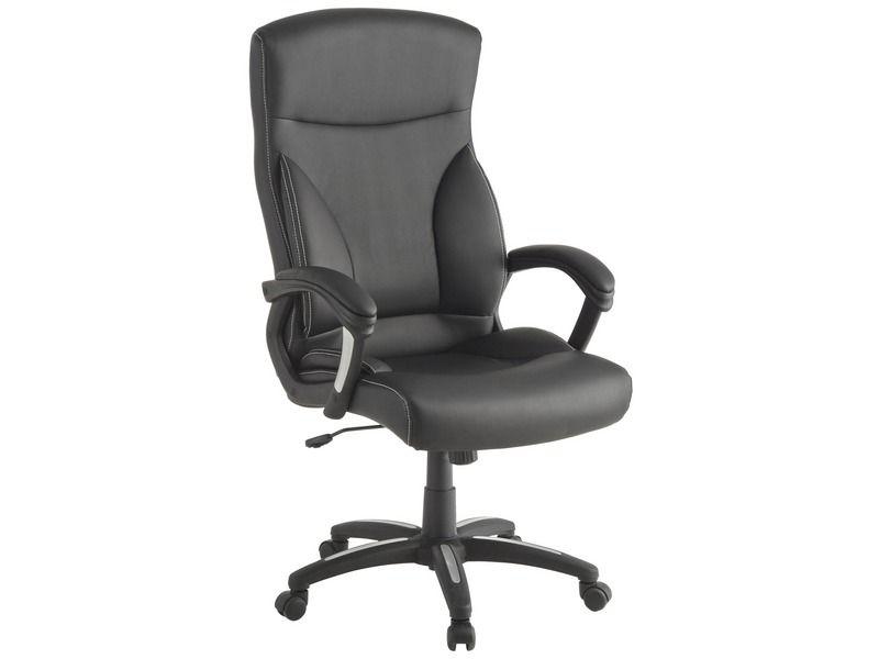 Fauteuil de bureau JACK coloris noir Vente de Chaise et Fauteuil
