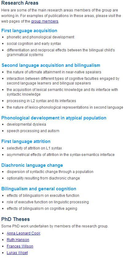 Developmental Linguistic Research First Language Acquisition Phonology Dissertation Examples Example