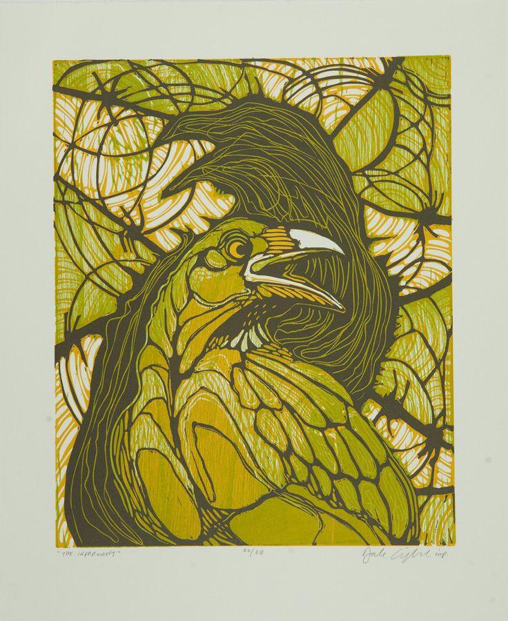 The Informant Artist Dale Clifford Medium Linocut Woodcut