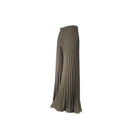 Pantaloni plissé soleil in puro crepe in lana - Moda italiana su misura by SaltieCreations #italiasmartteam #etsy