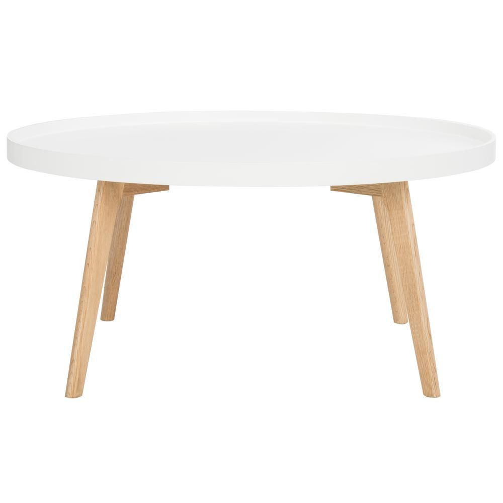 Safavieh Rue 36 In White Medium Round Wood Coffee Table Fox8207a The Home Depot Coffee Table Wood White Round Coffee Table Round Coffee Table [ 1000 x 1000 Pixel ]