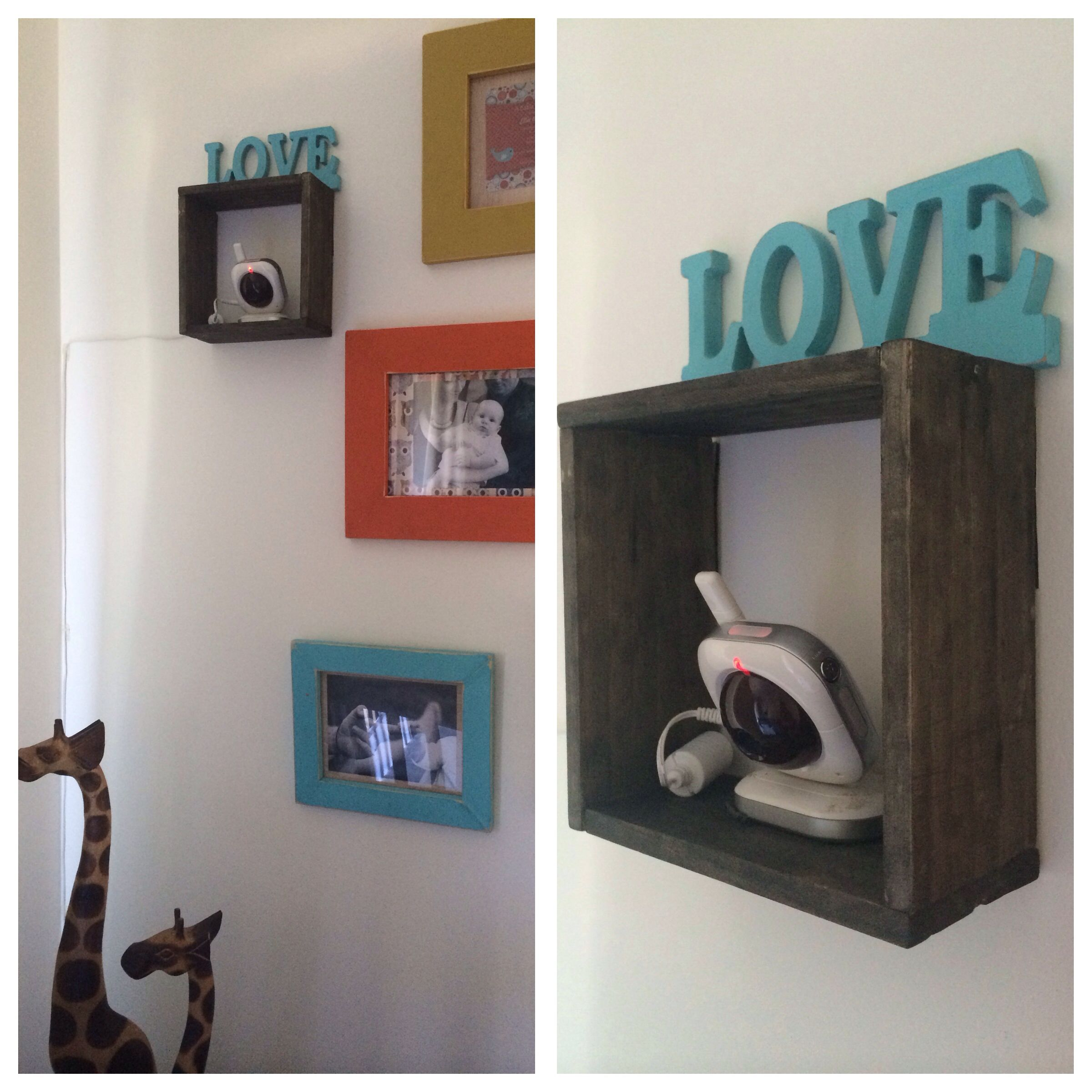 DIY Baby Monitor Camera Wall Shelf For Nursery Baby Health And - Wall bookshelves for nursery