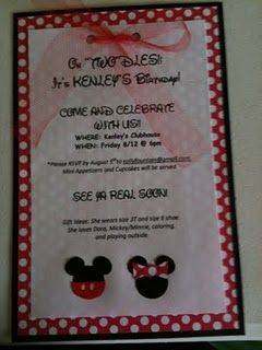 Mickey Mouse Invitations...